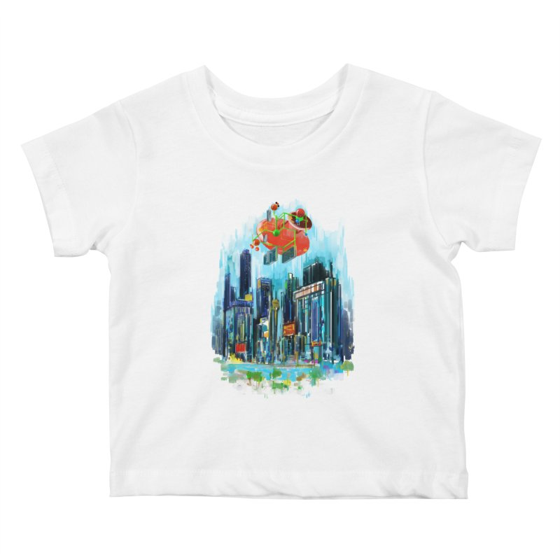 strange structure 1 Kids Baby T-Shirt by kharmazero's Artist Shop