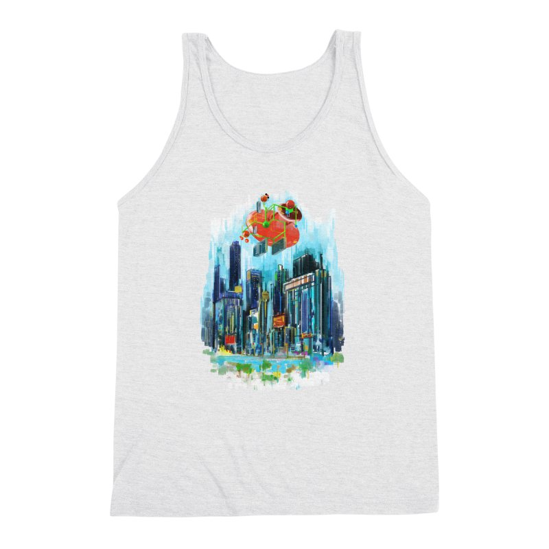 strange structure 1 Men's Triblend Tank by kharmazero's Artist Shop