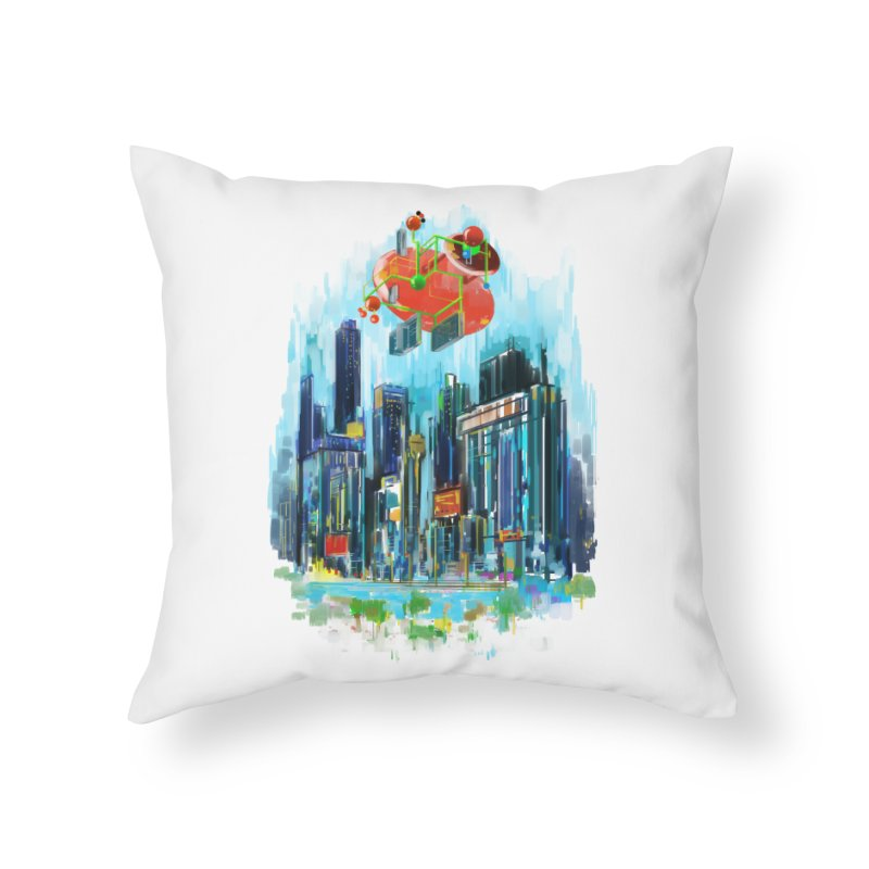 strange structure 1 Home Throw Pillow by kharmazero's Artist Shop