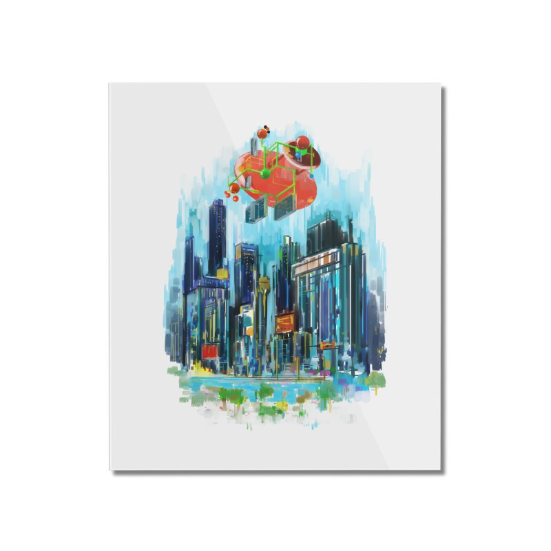 strange structure 1 Home Mounted Acrylic Print by kharmazero's Artist Shop