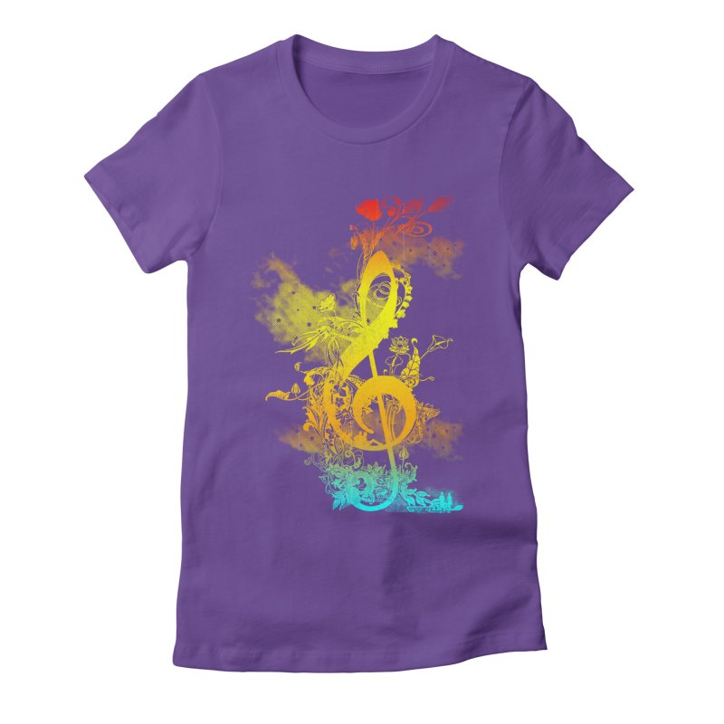 sound of nature 2 Women's Fitted T-Shirt by kharmazero's Artist Shop