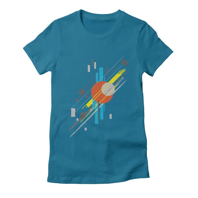 transversali-tee Women's Fitted T-Shirt by kharmazero's Artist Shop