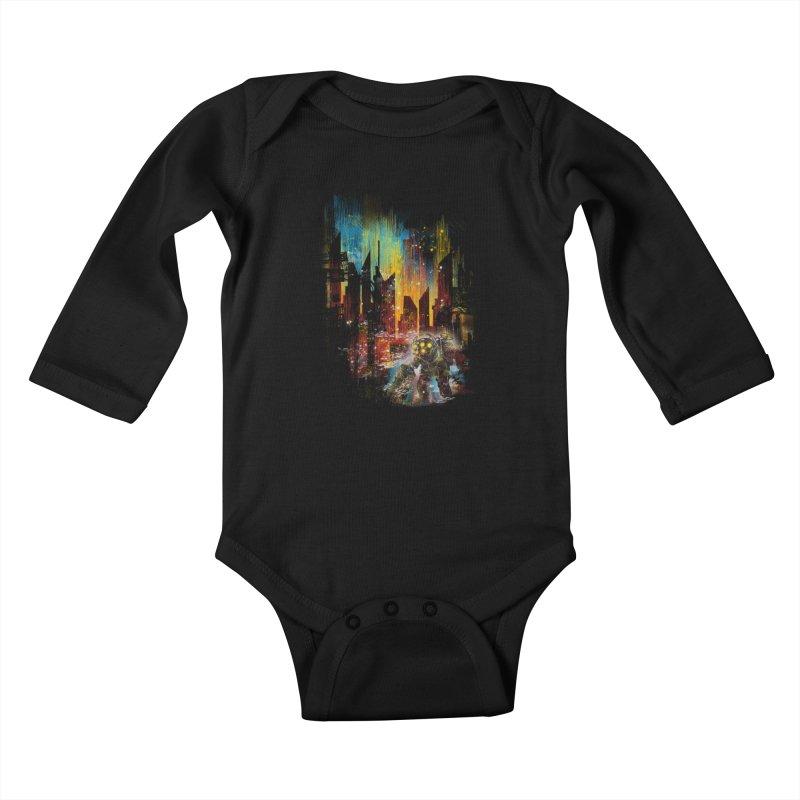 leaving rapture Kids Baby Longsleeve Bodysuit by kharmazero's Artist Shop