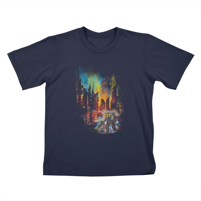 leaving rapture Kids T-shirt by kharmazero's Artist Shop
