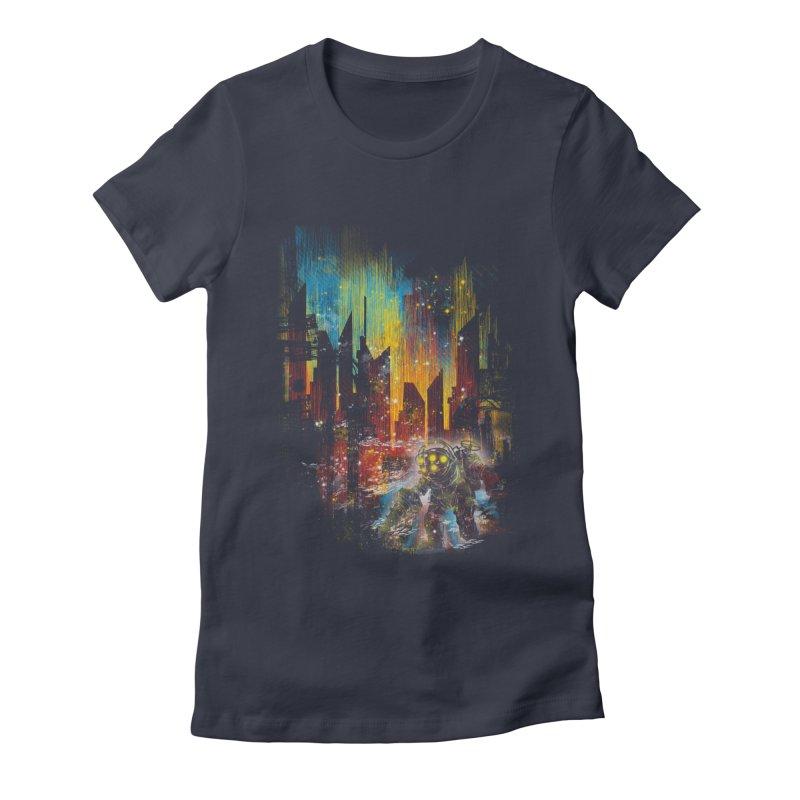 leaving rapture Women's Fitted T-Shirt by kharmazero's Artist Shop