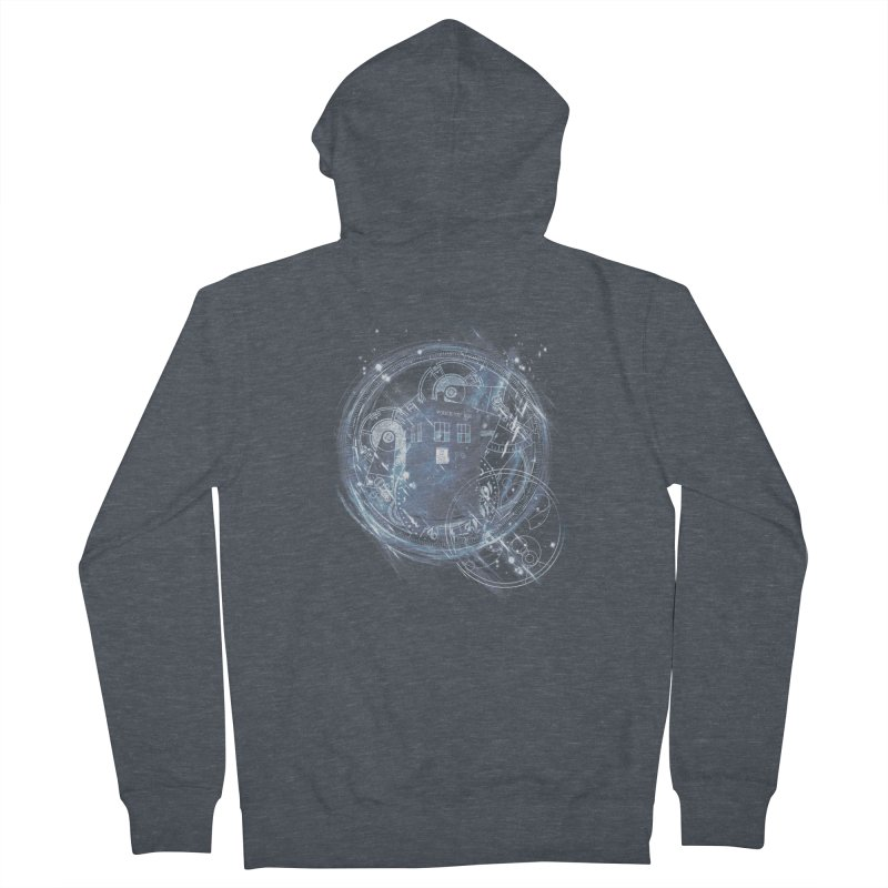 time and space machine Men's Zip-Up Hoody by kharmazero's Artist Shop