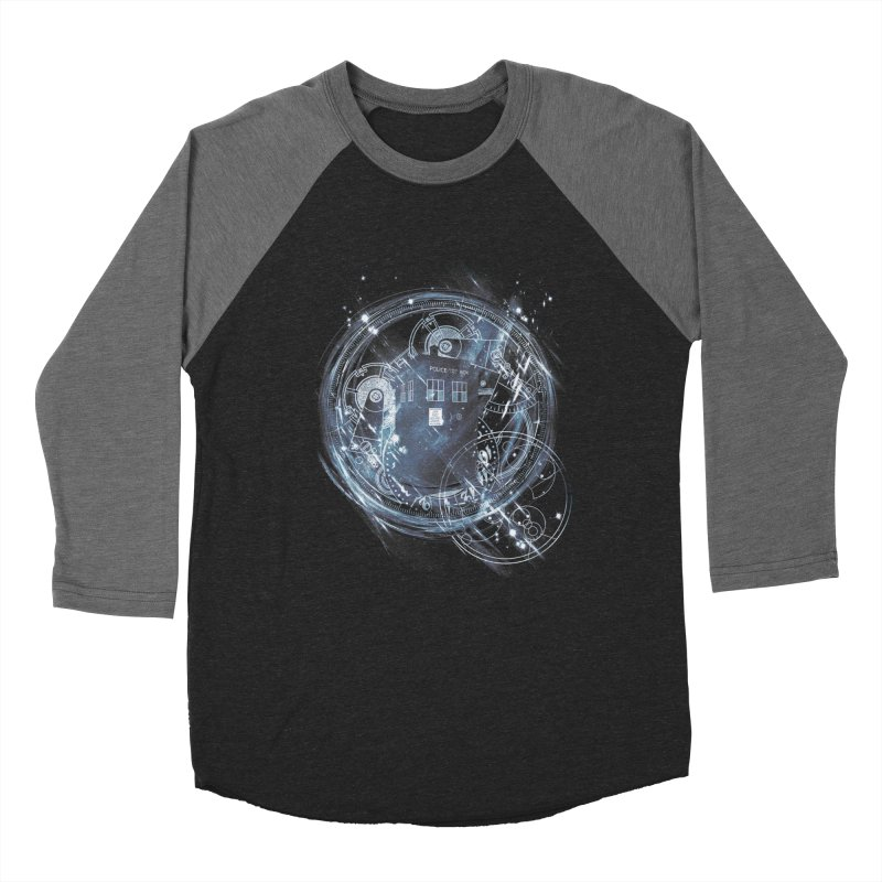 time and space machine Women's Baseball Triblend T-Shirt by kharmazero's Artist Shop