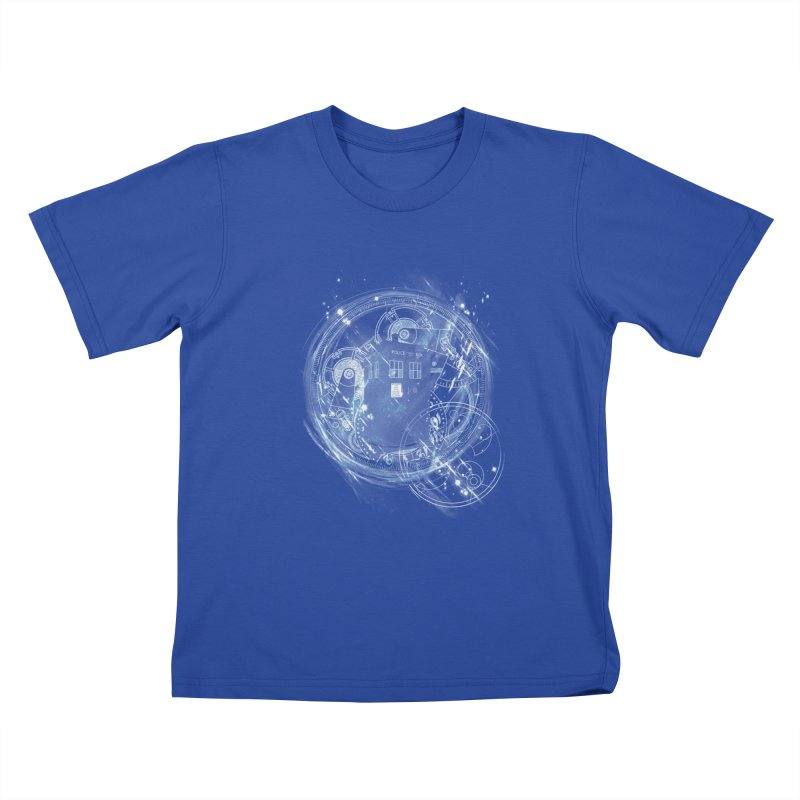 time and space machine Kids T-shirt by kharmazero's Artist Shop