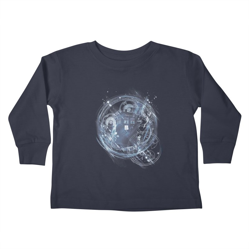 time and space machine Kids Toddler Longsleeve T-Shirt by kharmazero's Artist Shop