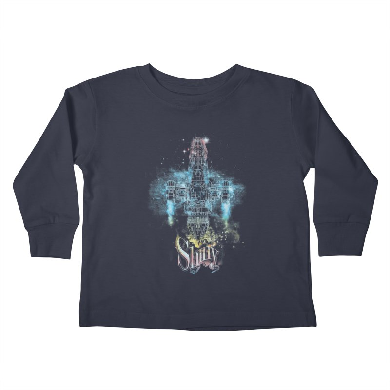 the shiniest space ship Kids Toddler Longsleeve T-Shirt by kharmazero's Artist Shop