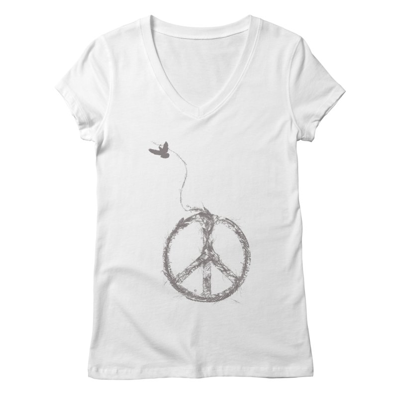 sewing peace Women's V-Neck by kharmazero's Artist Shop