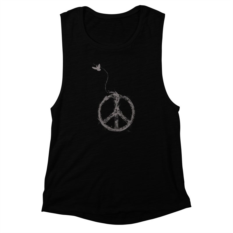 sewing peace Women's Muscle Tank by kharmazero's Artist Shop