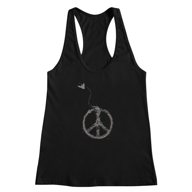 sewing peace Women's Racerback Tank by kharmazero's Artist Shop