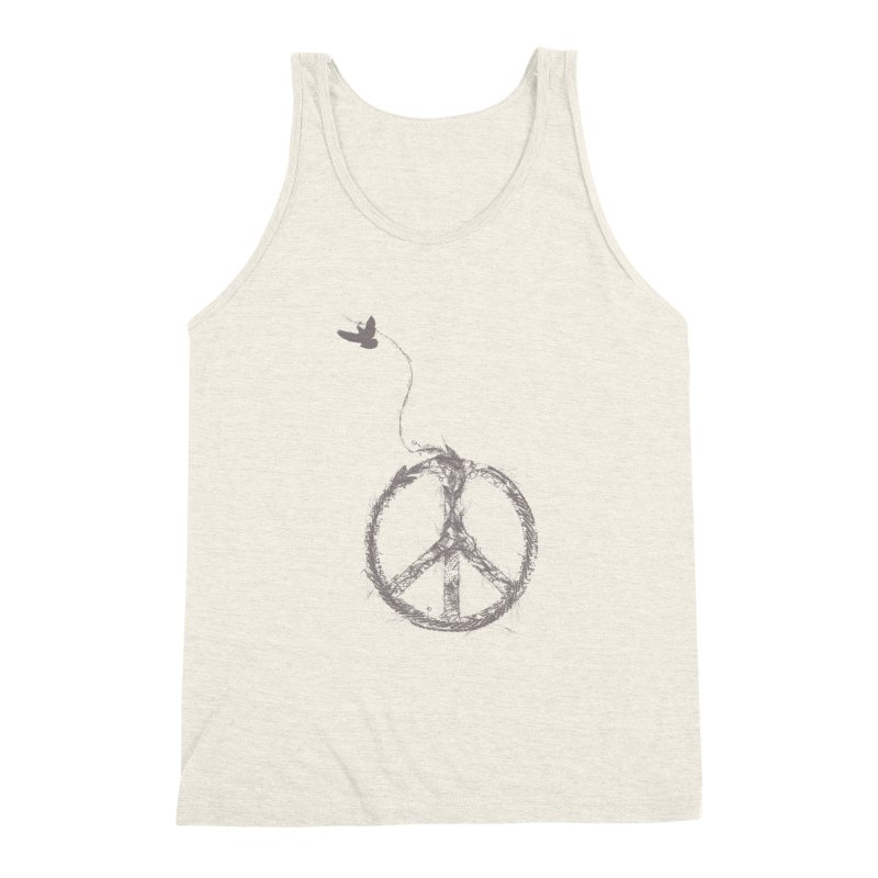 sewing peace Men's Triblend Tank by kharmazero's Artist Shop