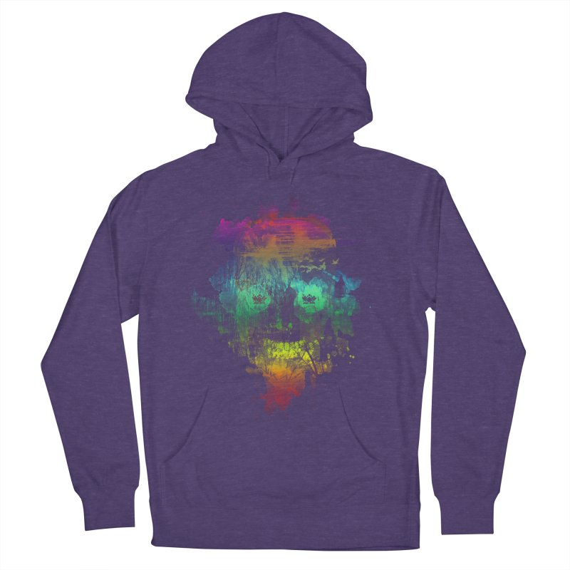 neon skully Women's Pullover Hoody by kharmazero's Artist Shop