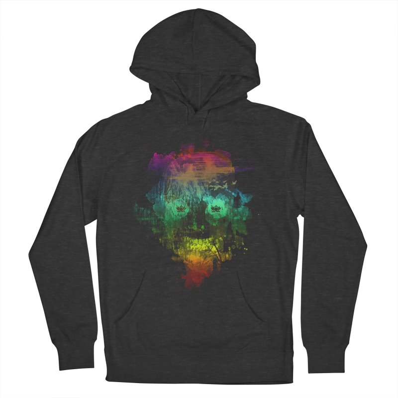 neon skully Men's Pullover Hoody by kharmazero's Artist Shop