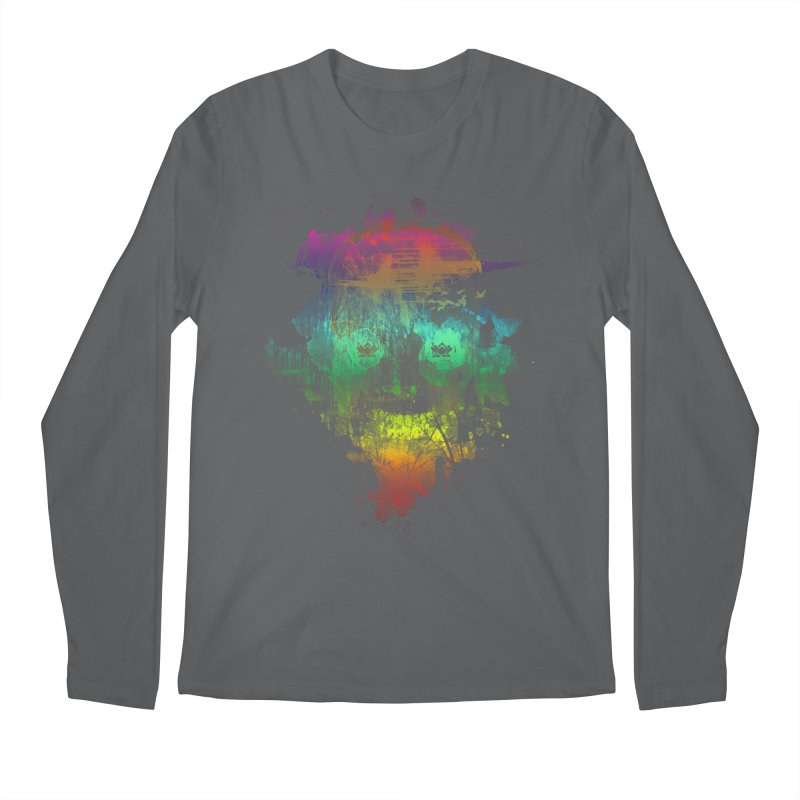 neon skully Men's Longsleeve T-Shirt by kharmazero's Artist Shop