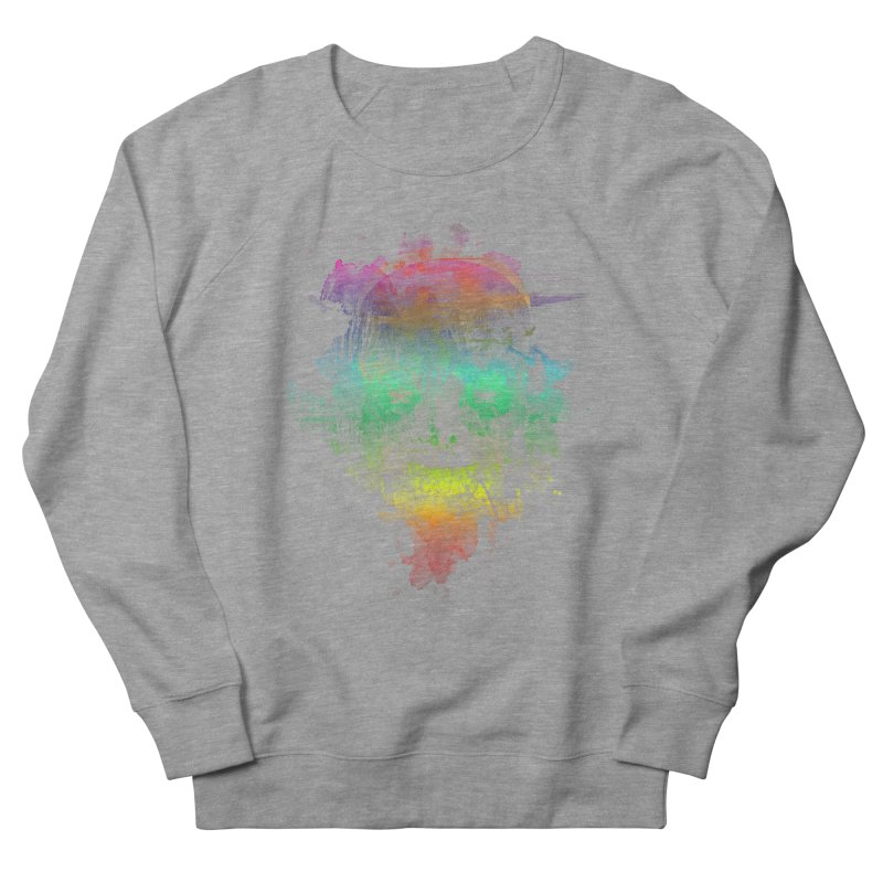 neon skully Women's Sweatshirt by kharmazero's Artist Shop