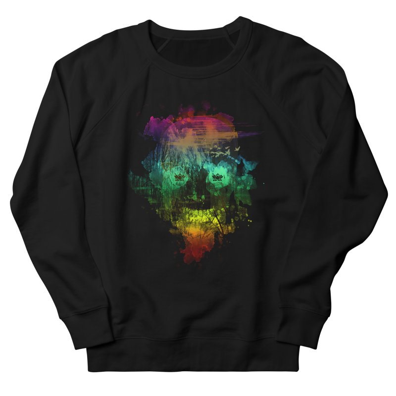 neon skully Men's Sweatshirt by kharmazero's Artist Shop