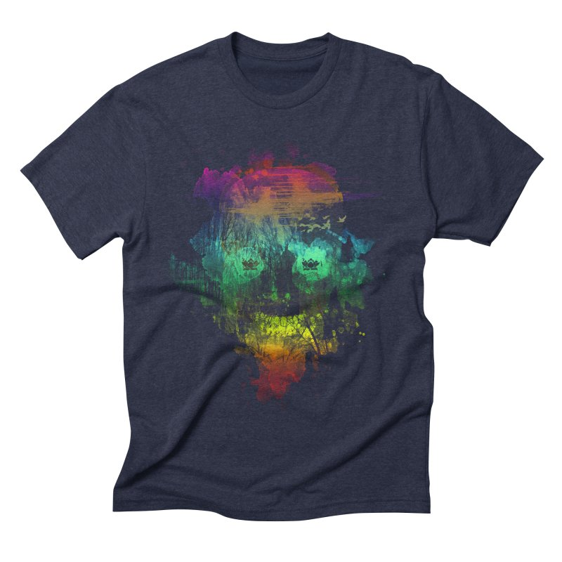 neon skully Men's Triblend T-shirt by kharmazero's Artist Shop