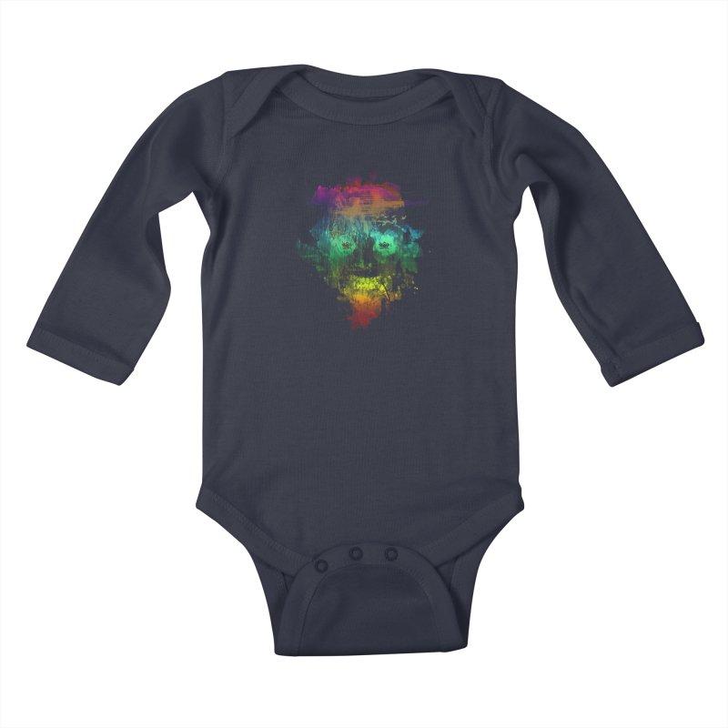 neon skully Kids Baby Longsleeve Bodysuit by kharmazero's Artist Shop
