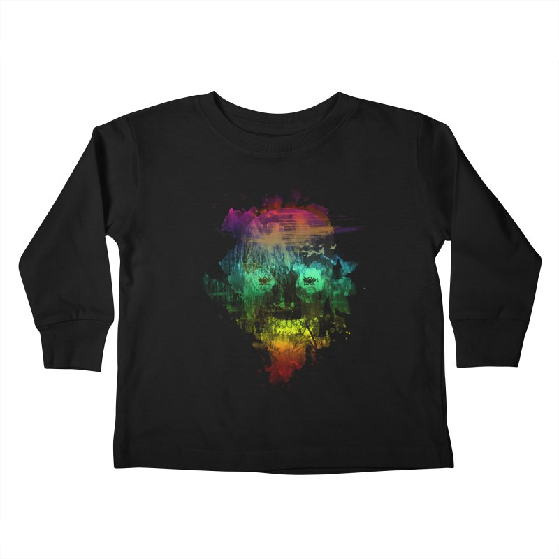 neon skully Kids Toddler Longsleeve T-Shirt by kharmazero's Artist Shop