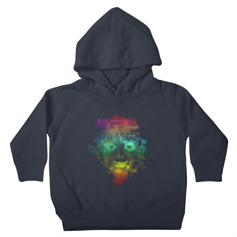 neon skully Kids Toddler Pullover Hoody by kharmazero's Artist Shop
