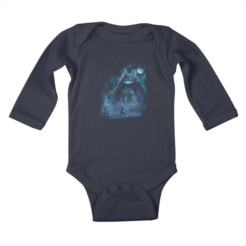 the hidden friend Kids Baby Longsleeve Bodysuit by kharmazero's Artist Shop