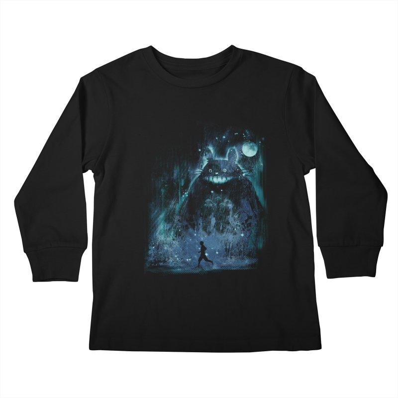the hidden friend Kids Longsleeve T-Shirt by kharmazero's Artist Shop