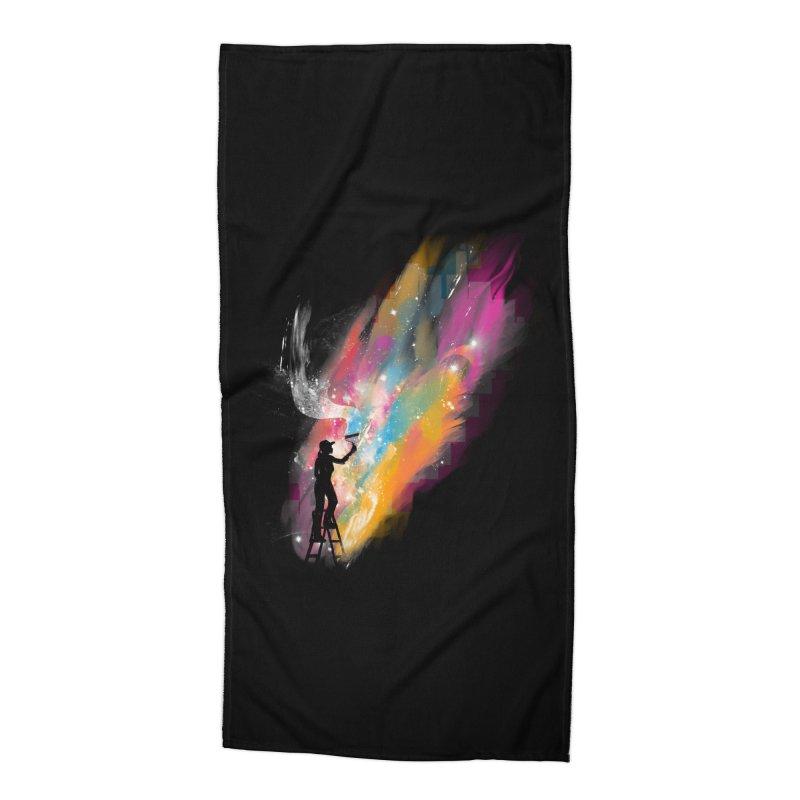 creative space Accessories Beach Towel by kharmazero's Artist Shop