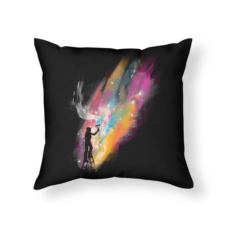 creative space Home Throw Pillow by kharmazero's Artist Shop