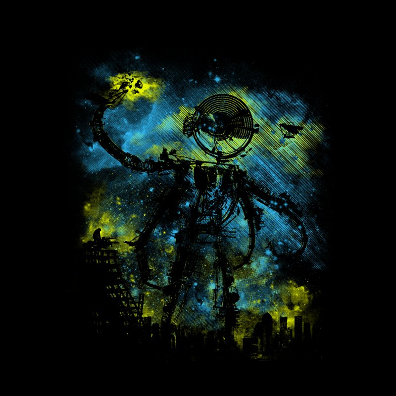 mad robot 1 Men's T-Shirt by kharmazero's Artist Shop