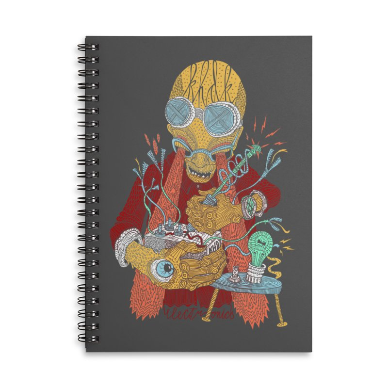 KHDK Tony & Circuits Accessories Lined Spiral Notebook by KHDK
