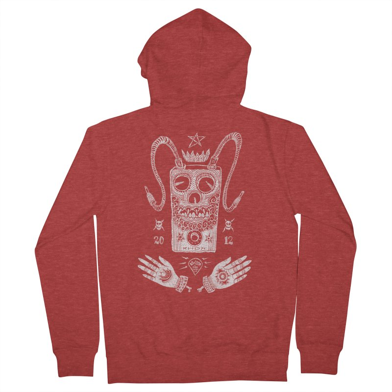 KHDK Pedal Baphomet Women's French Terry Zip-Up Hoody by KHDK