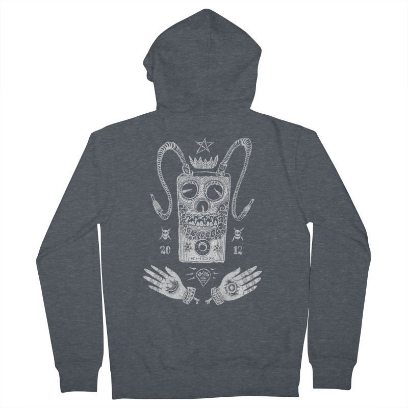KHDK Pedal Baphomet Men's French Terry Zip-Up Hoody by KHDK