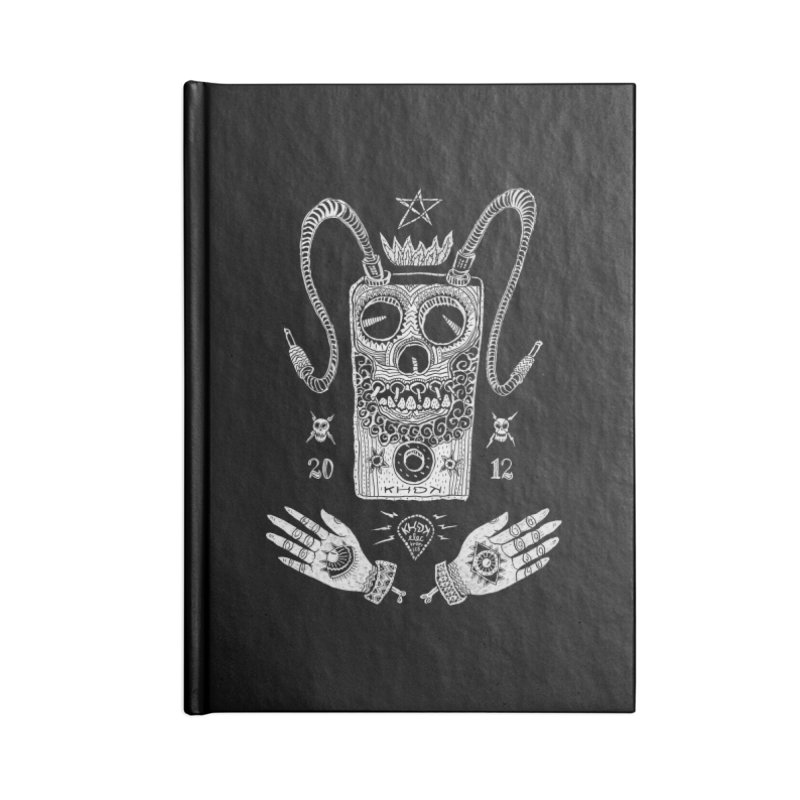 KHDK Pedal Baphomet Accessories Blank Journal Notebook by KHDK