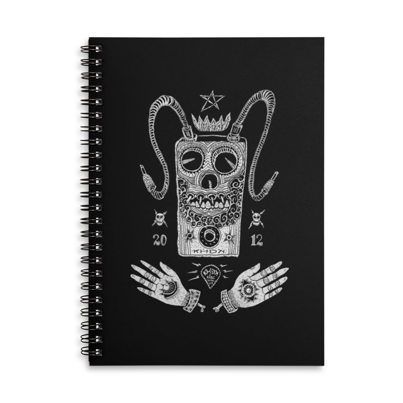 KHDK Pedal Baphomet Accessories Lined Spiral Notebook by KHDK