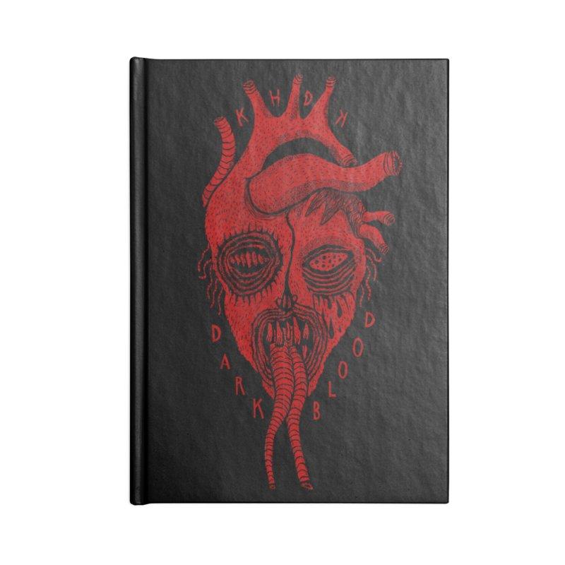 KHDK Dark Blood Heart R Accessories Lined Journal Notebook by KHDK