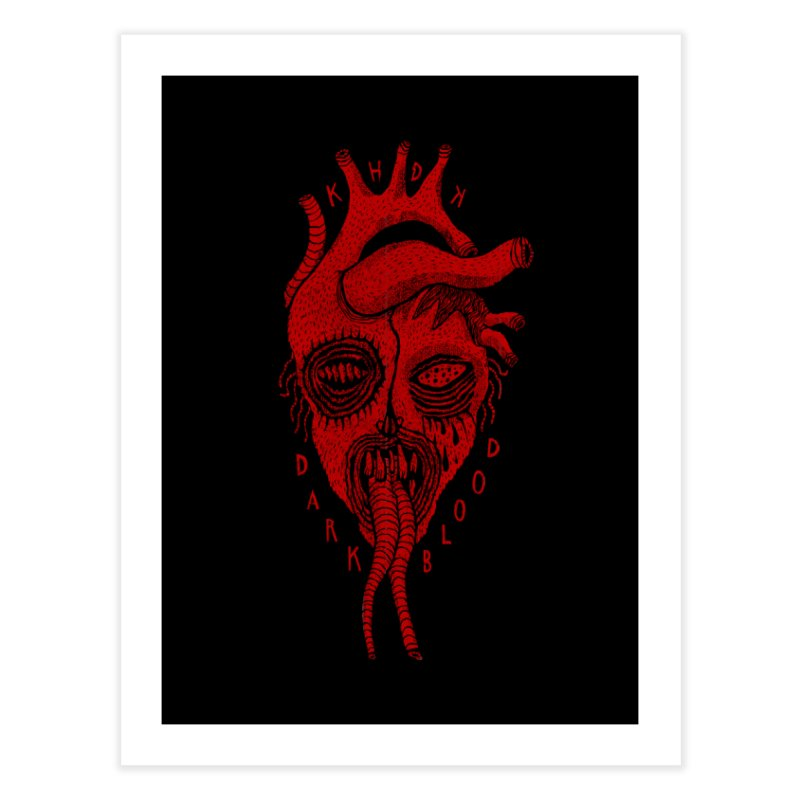 KHDK Dark Blood Heart R Home Fine Art Print by KHDK