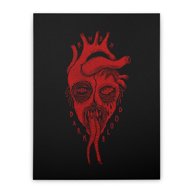 KHDK Dark Blood Heart R Home Stretched Canvas by KHDK