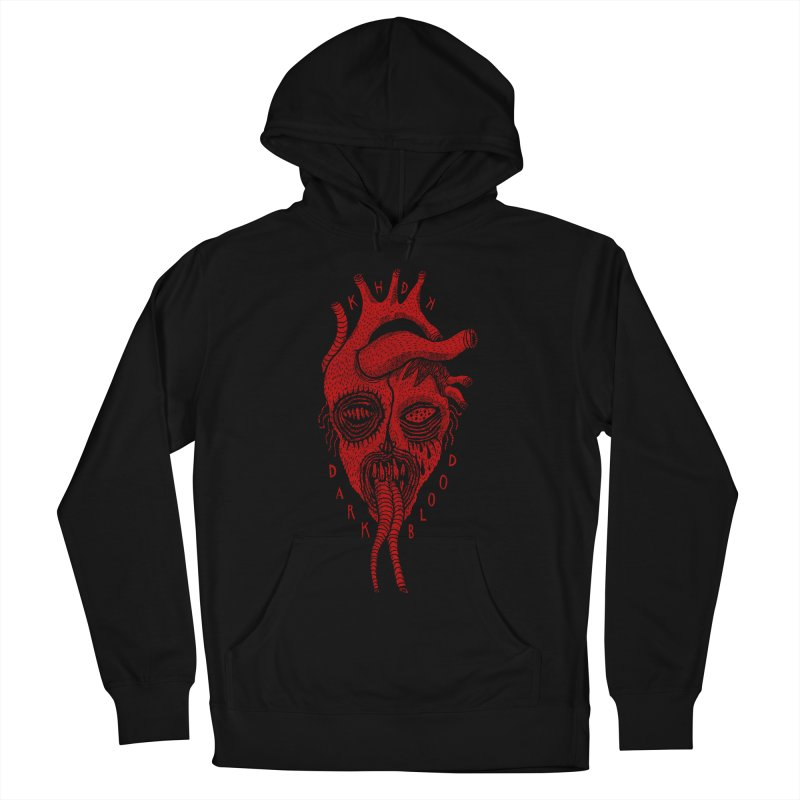 KHDK Dark Blood Heart R Women's French Terry Pullover Hoody by KHDK