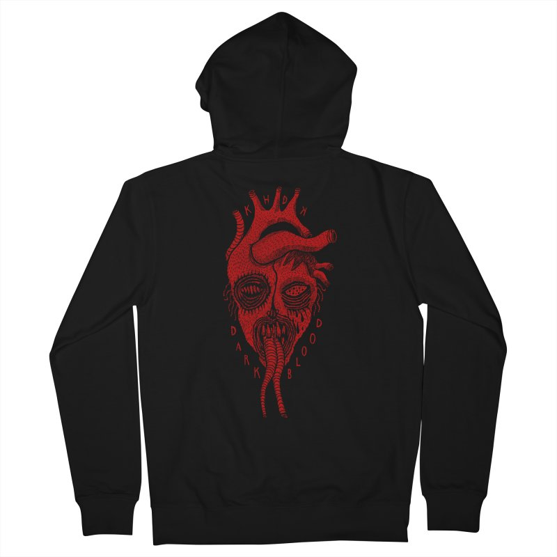 KHDK Dark Blood Heart R Men's French Terry Zip-Up Hoody by KHDK