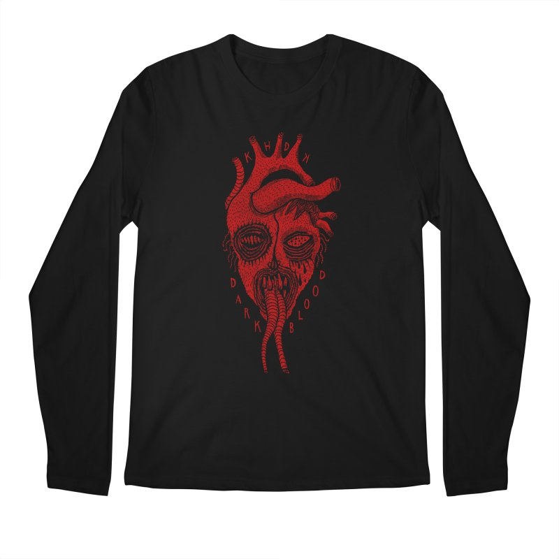 KHDK Dark Blood Heart R Men's Longsleeve T-Shirt by KHDK