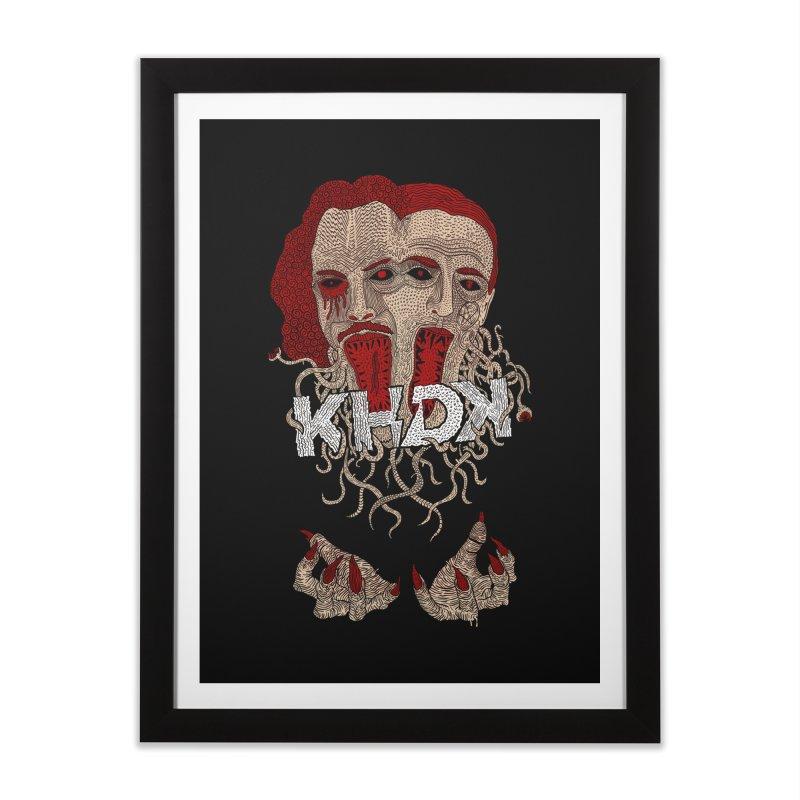 The Two-Headed Beast (Kirk Hammett and David Karon) Home Framed Fine Art Print by KHDK