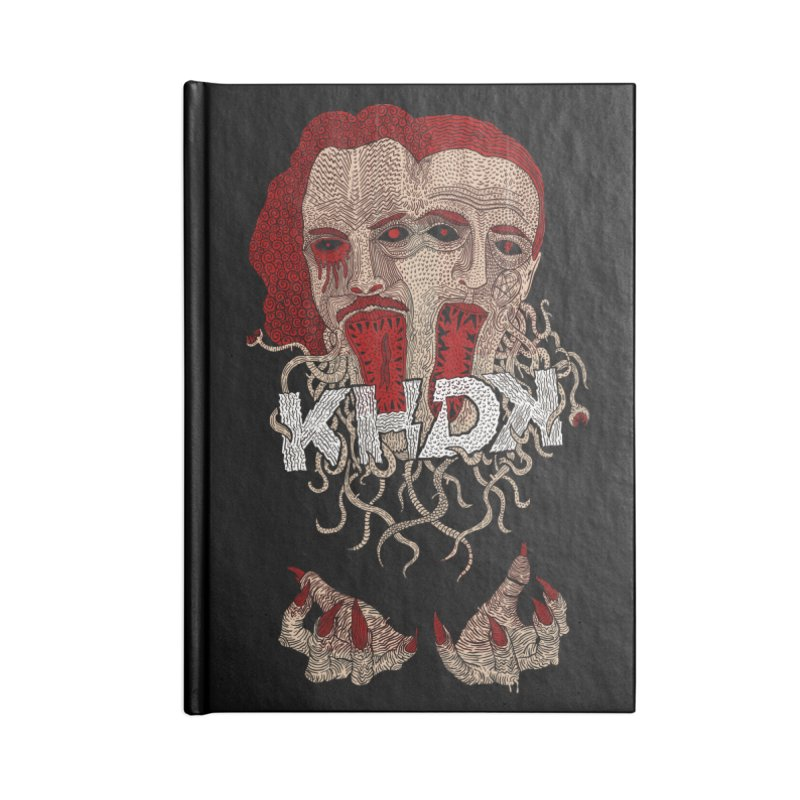 The Two-Headed Beast (Kirk Hammett and David Karon) Accessories Lined Journal Notebook by KHDK