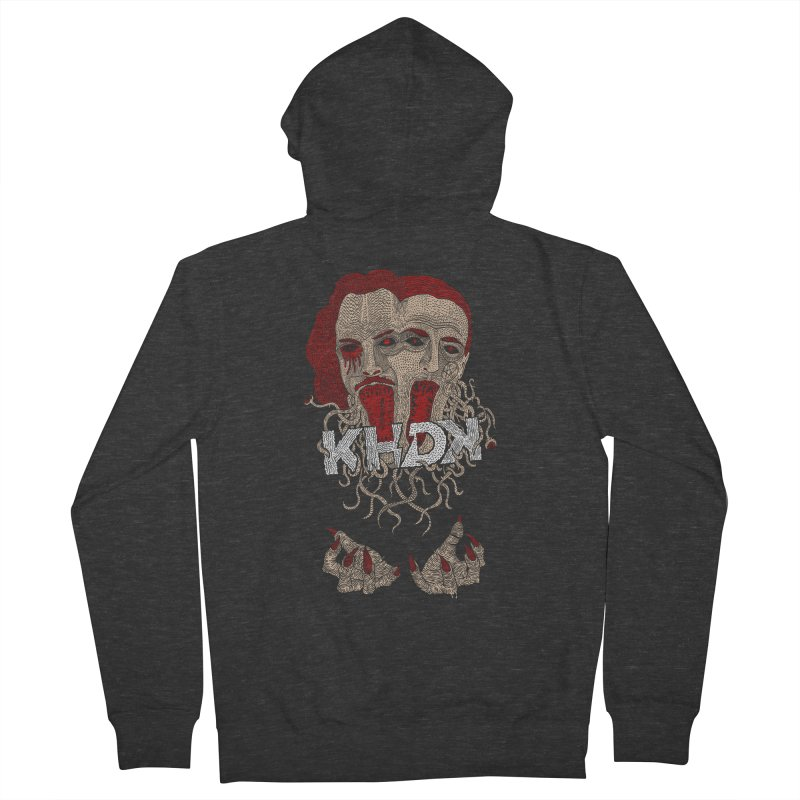 The Two-Headed Beast (Kirk Hammett and David Karon) Women's French Terry Zip-Up Hoody by KHDK