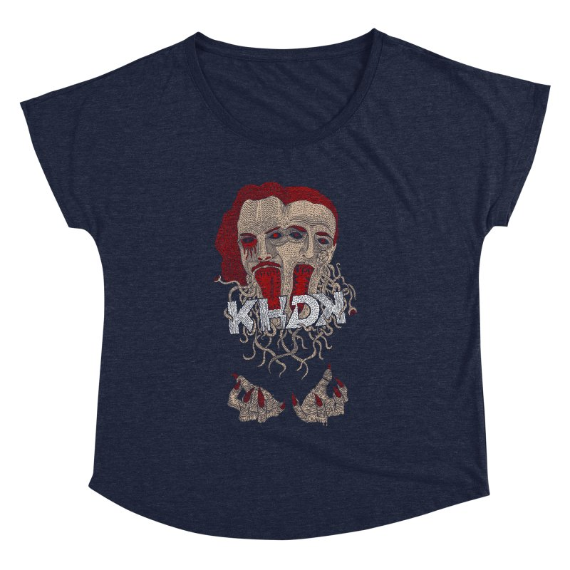 The Two-Headed Beast (Kirk Hammett and David Karon) Women's Dolman Scoop Neck by KHDK