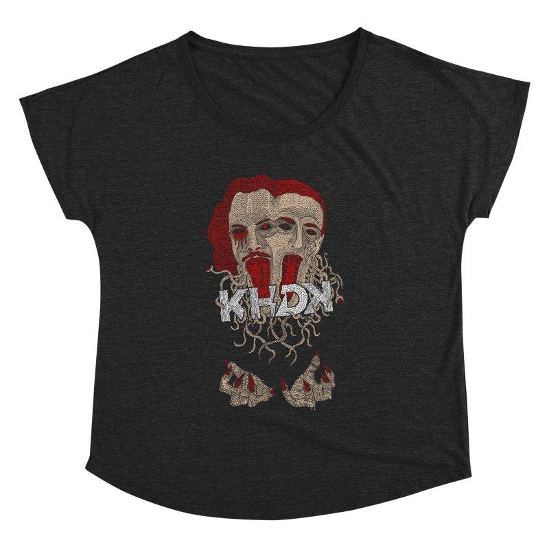 The Two-Headed Beast (Kirk Hammett and David Karon) Women's Dolman Scoop Neck by KHDK