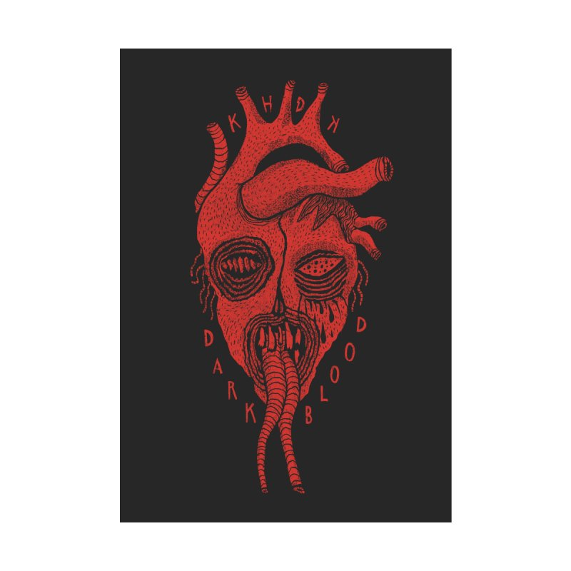 KHDK Dark Blood Heart Wall Art 1 by KHDK