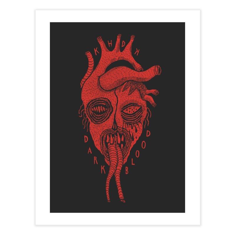KHDK Dark Blood Heart Wall Art 1 Home Fine Art Print by KHDK